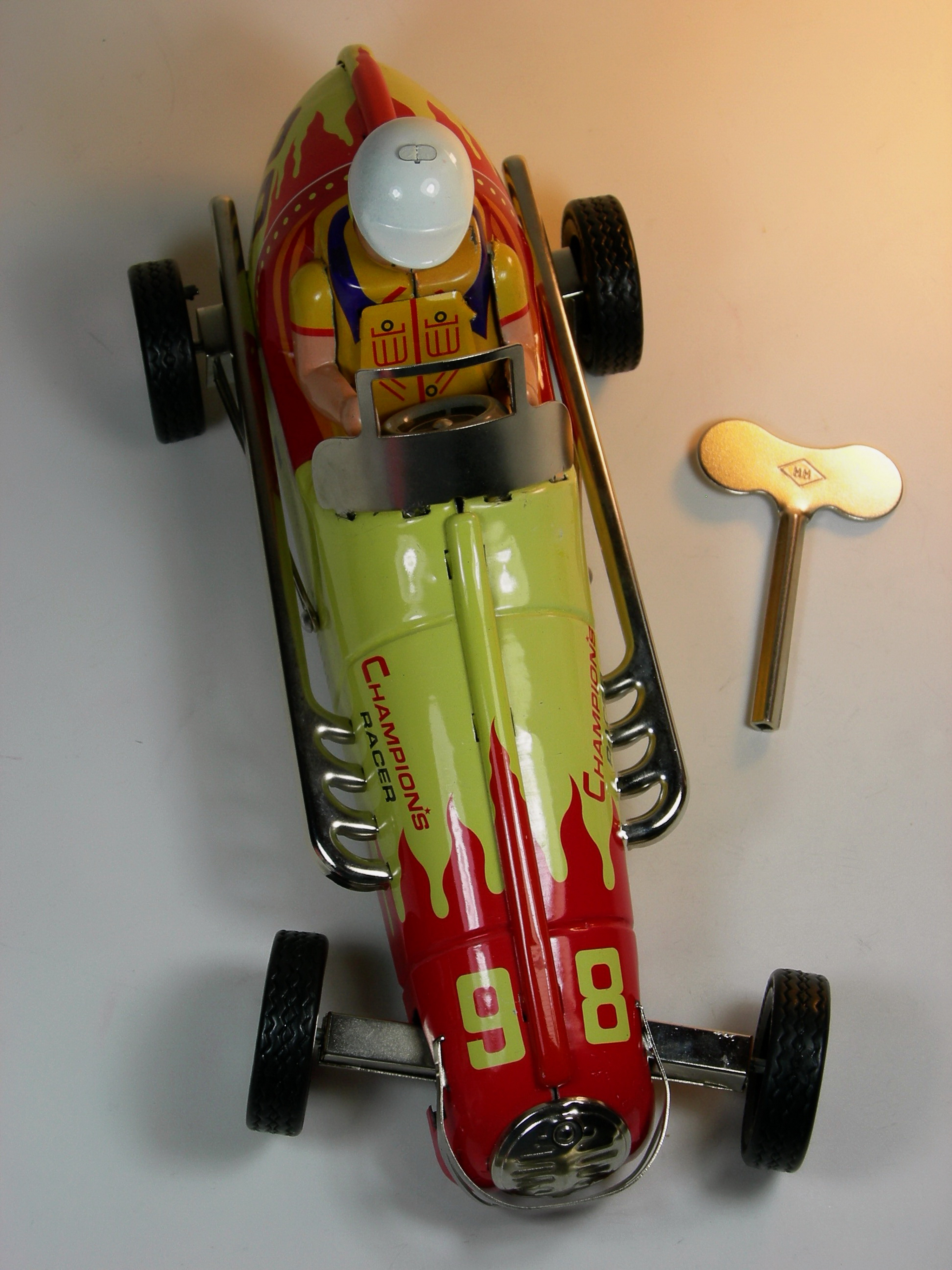 File Ha Ha Toy Tin Wind Up Champion S Racer No 98 Indy Car