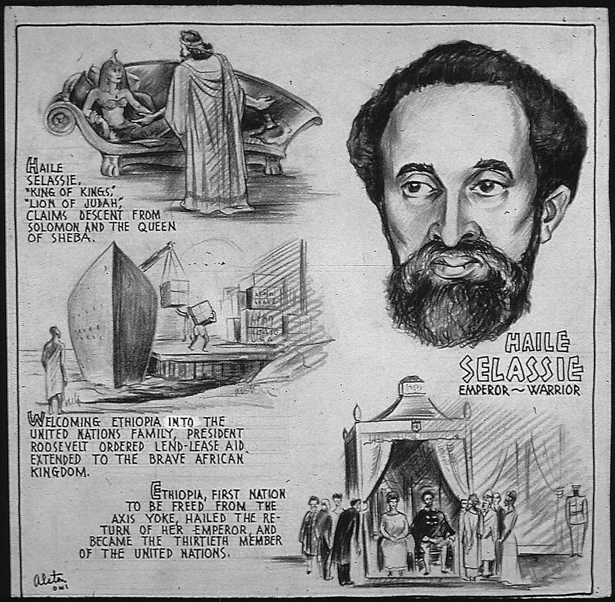 File:Haile Selassie - Emperor, Warrior, 1943.jpg - Wikimedia Commons