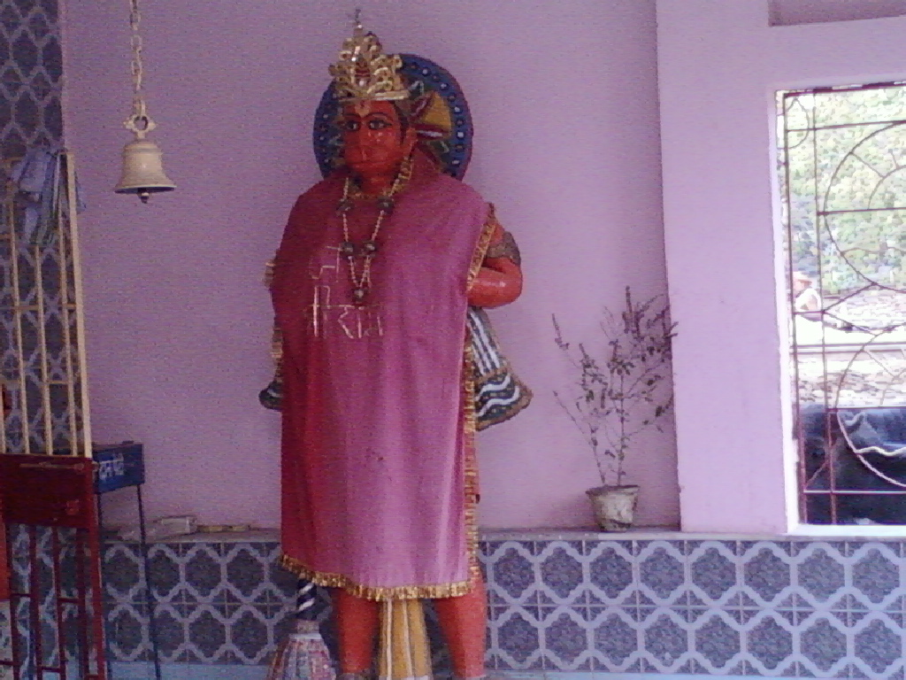 file hanuman ji in vishwakarma temple shivpuri jpg wikimedia commons
