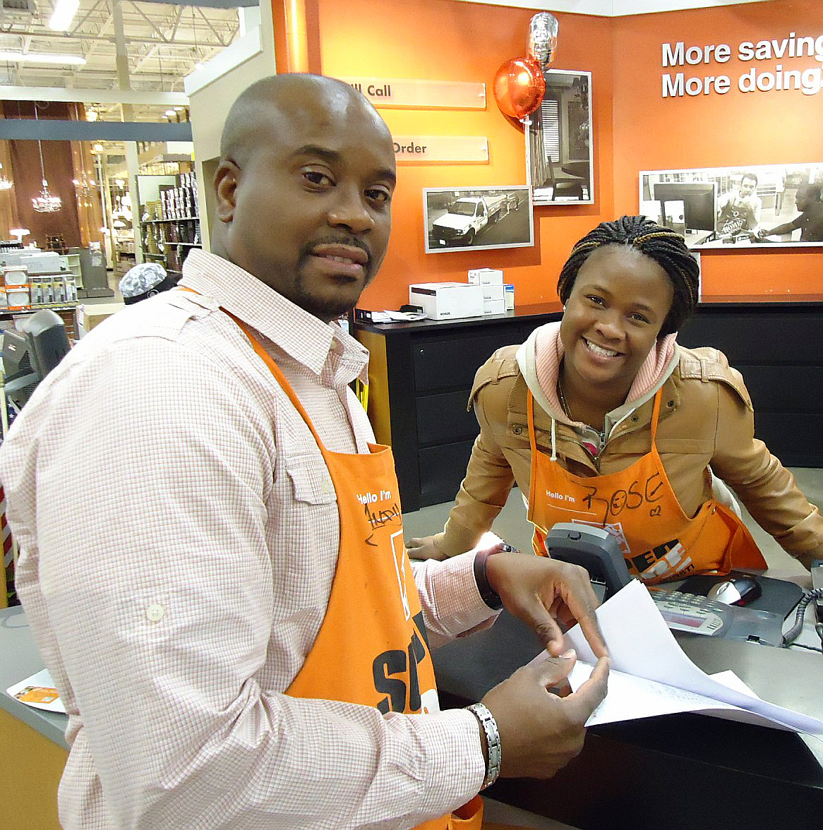 employees at a home depot superstore in union new jersey in january 2013