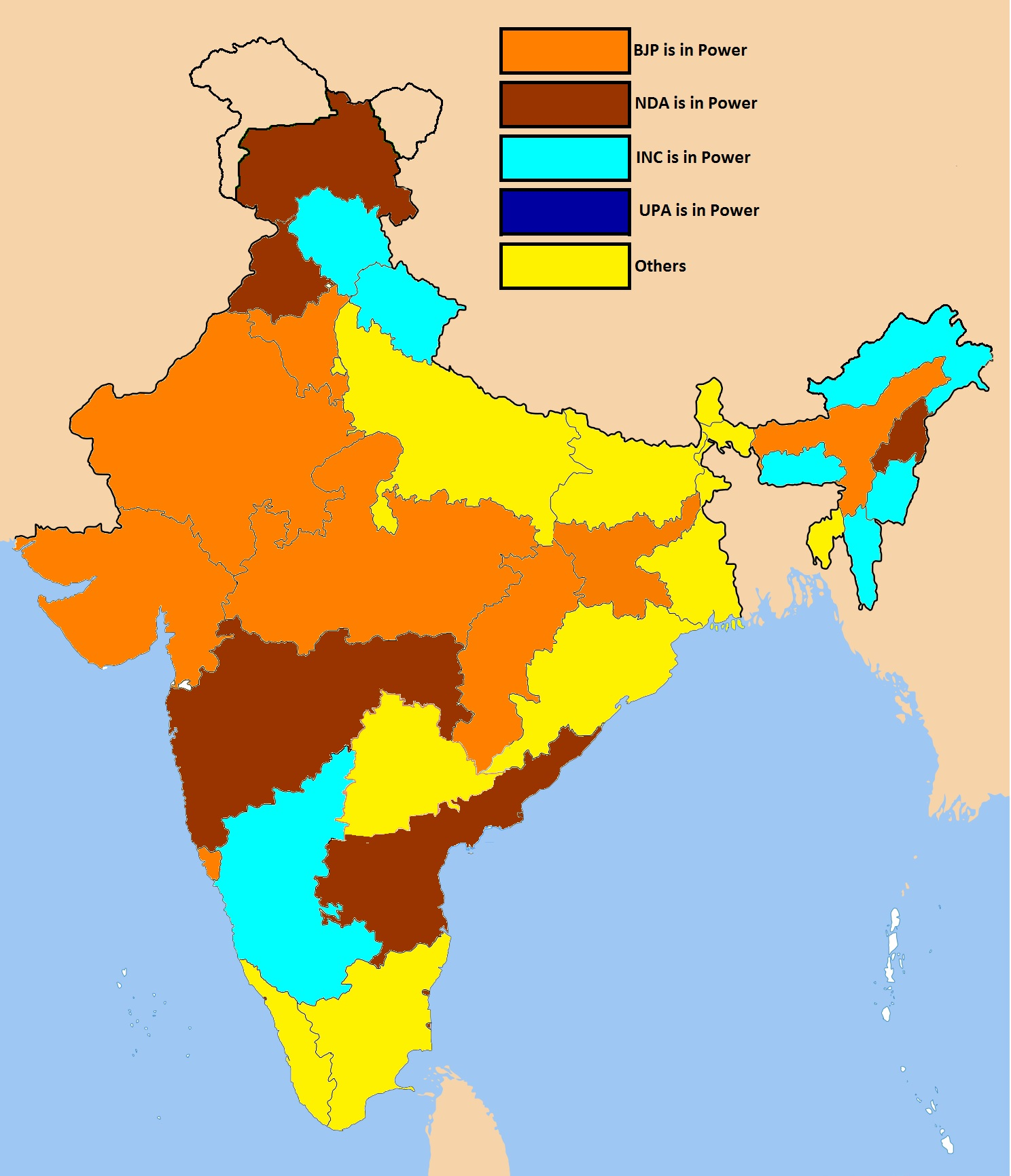 file indian states by ruling party 3 png wikimedia commons