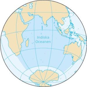 Det indiske ocean.