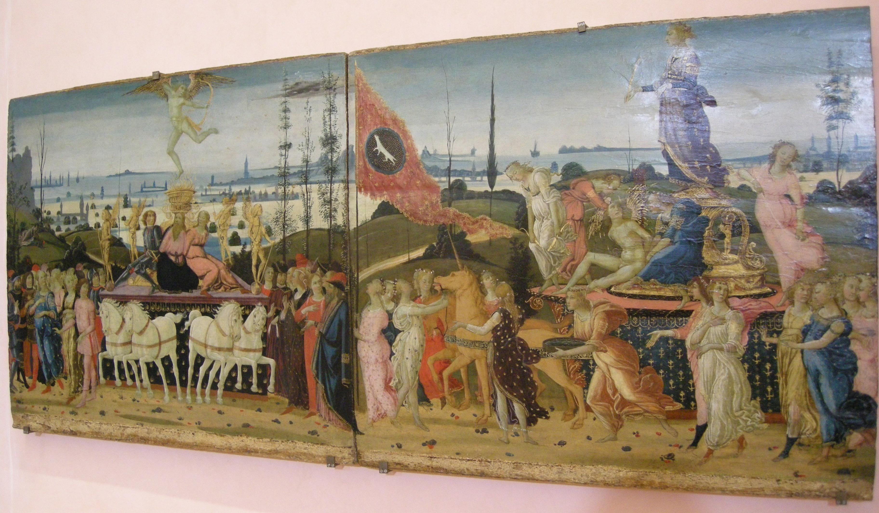 File:Jacopo del sellaio, trionfo dell'amore e della pudicizia 1480-1485
