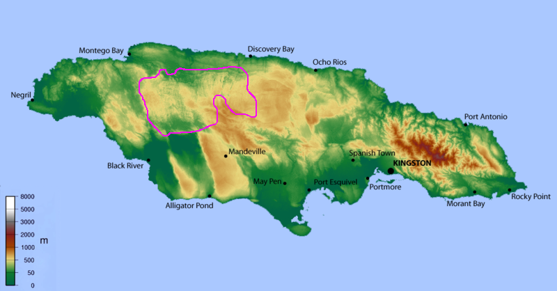 FileJamaica CockpitCountrypng Wikimedia Commons - Country physical map of jamaica