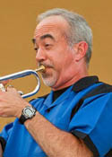 English: Picture of Kye Palmer playing trumpet...