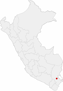 Soubor:Location of the city of Puno in Peru.PNG