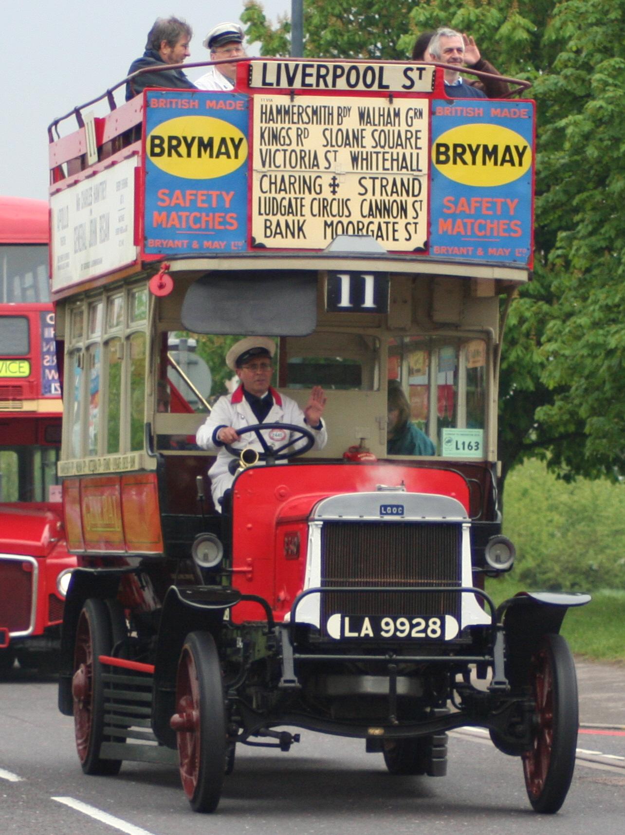 file london general omnibus company bus b340  la 9928