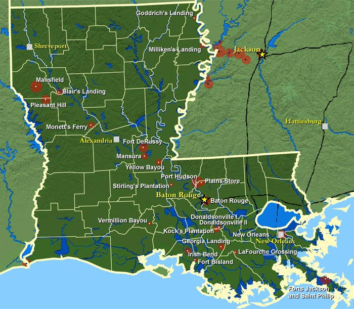 FileLouisiana Civil Warjpg Wikimedia Commons - A map of louisiana