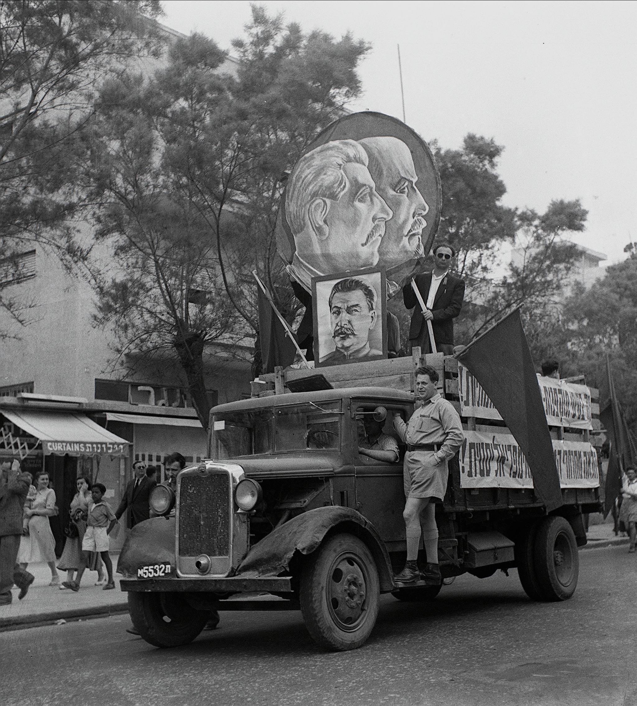 במצעד 1 במאי בתל אביב, 1949