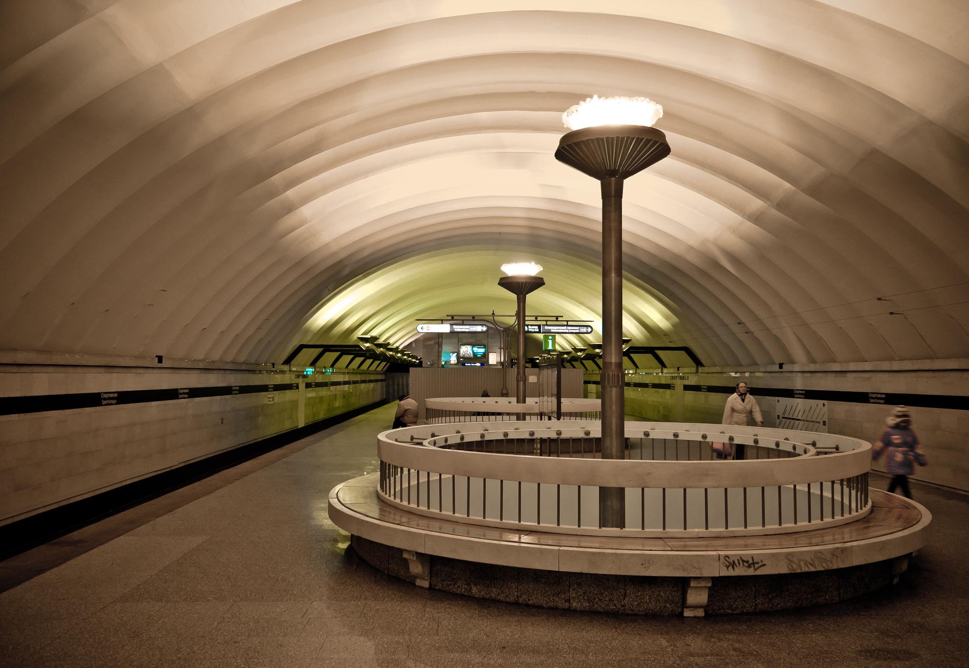 ВПетербурге закрыли станцию метро «Спортивная»