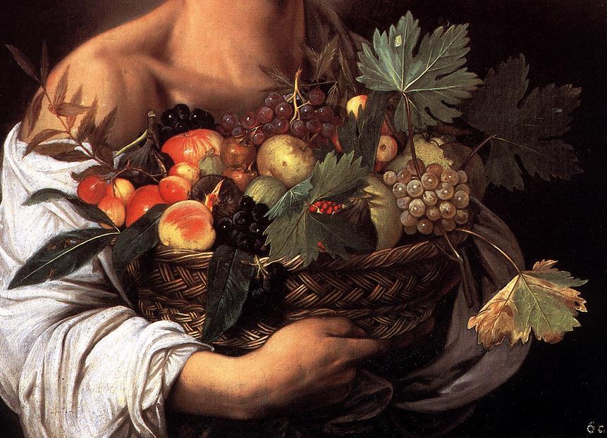 File:Michelangelo Merisi da Caravaggio - Boy with a Basket of ...