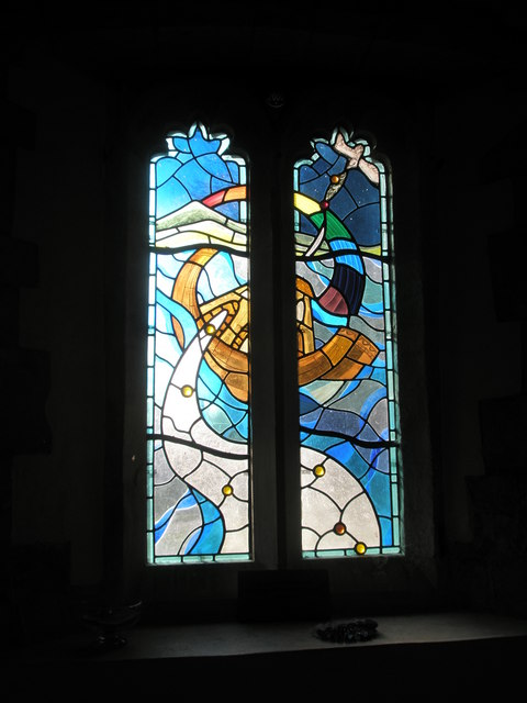 File modern stained glass window within st mary and all for Contemporary stained glass