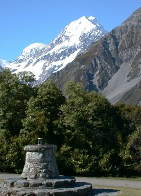 Aoraki/Mount Cook viewed from The Hermitage