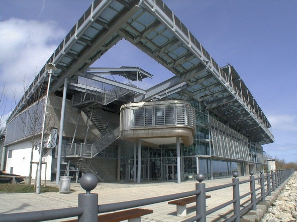Front facia of the National Glass Centre in Sunderland, England.