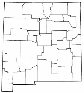 Location of Reserve, New Mexico