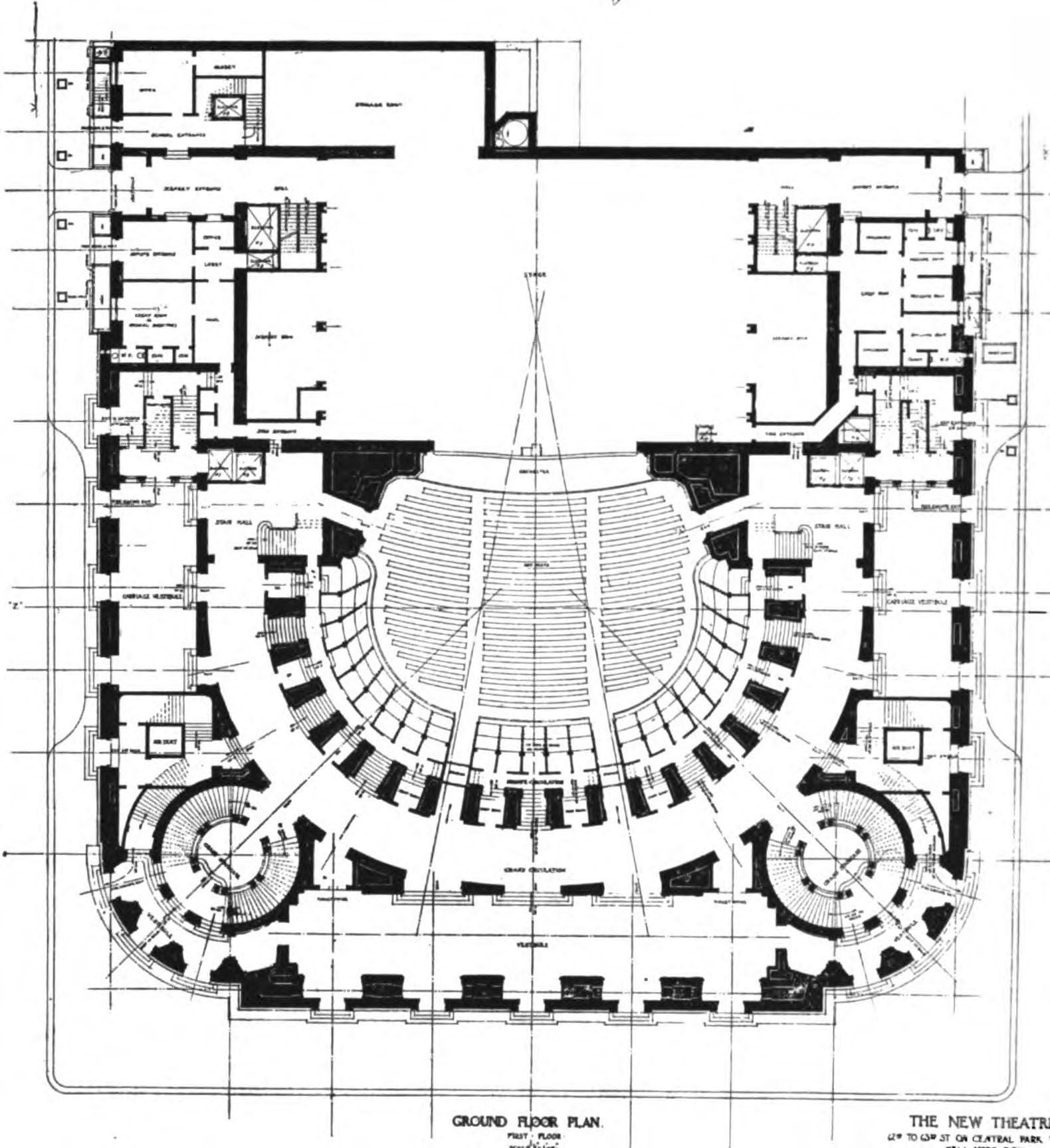 Radio City Music Hall Floor Plan File New Theatre Ground Floor Plan The Architect 1909