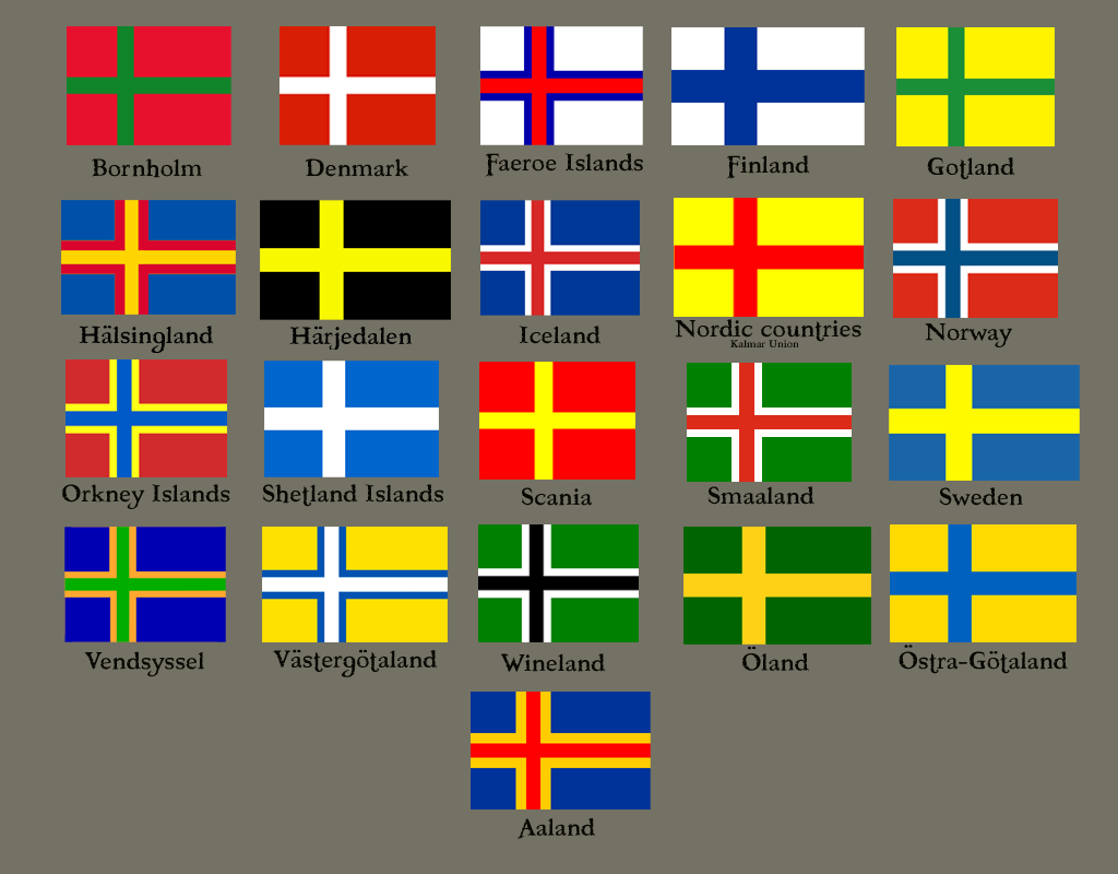 Description nordic cross flags