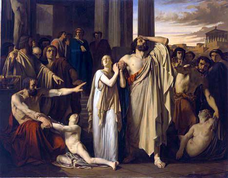 Fichier:Oedipe et Antigone s'exilant de Thèbes Louis Duveau.JPG — Wikipédia