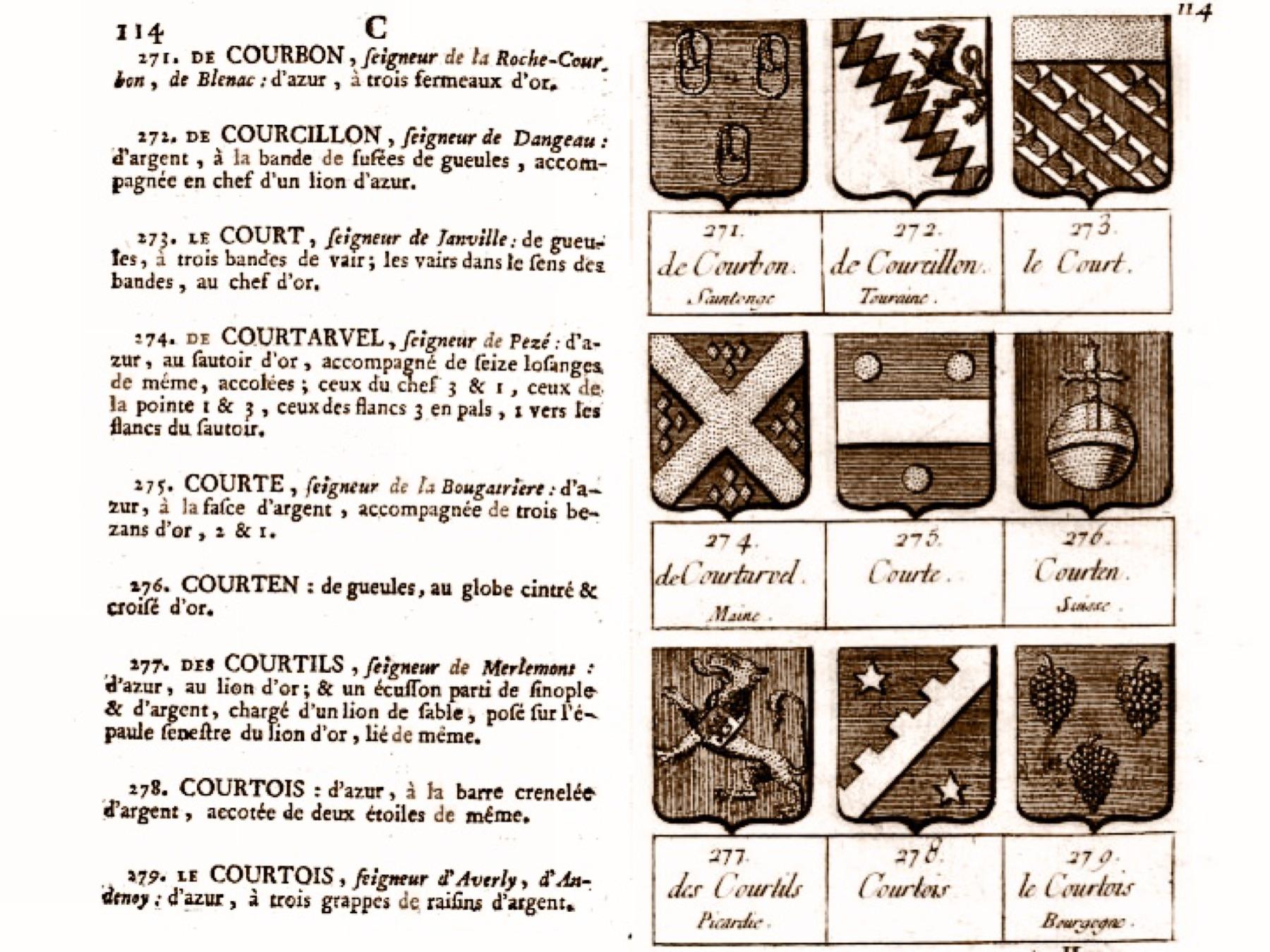 File page 114 du livre armorial des principales maison et - Magasin maison de famille ...