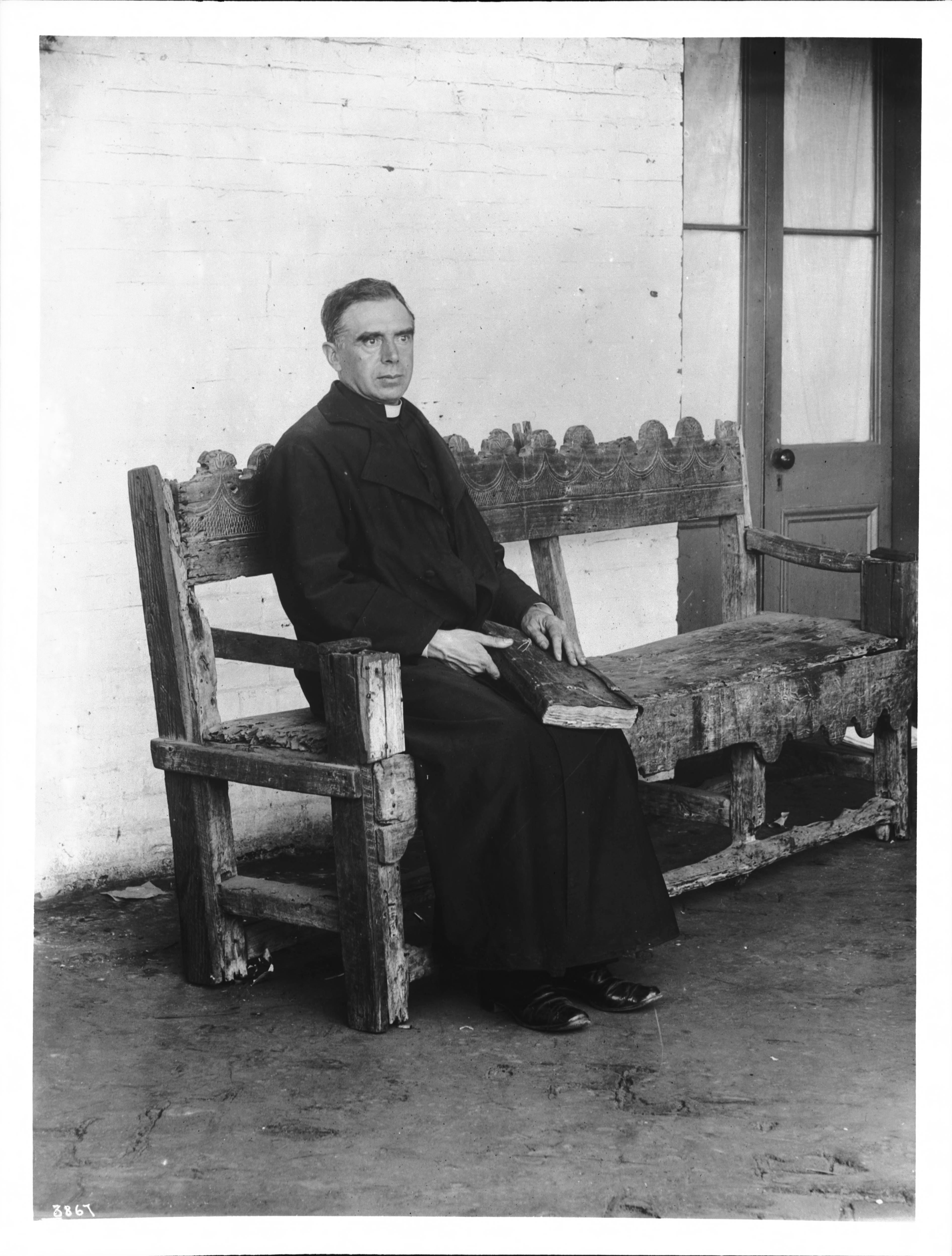 File Plaza Church Priest Reverend Joachim Adam Sitting On
