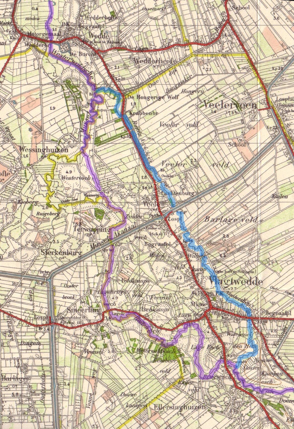 Ruiten-Aa bij Vlagtwedde in op topokaart1932.jpg
