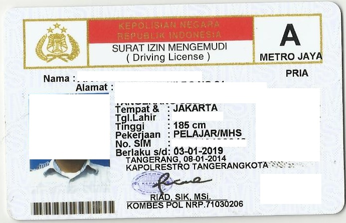 Driving license in Indonesia - Wikipedia