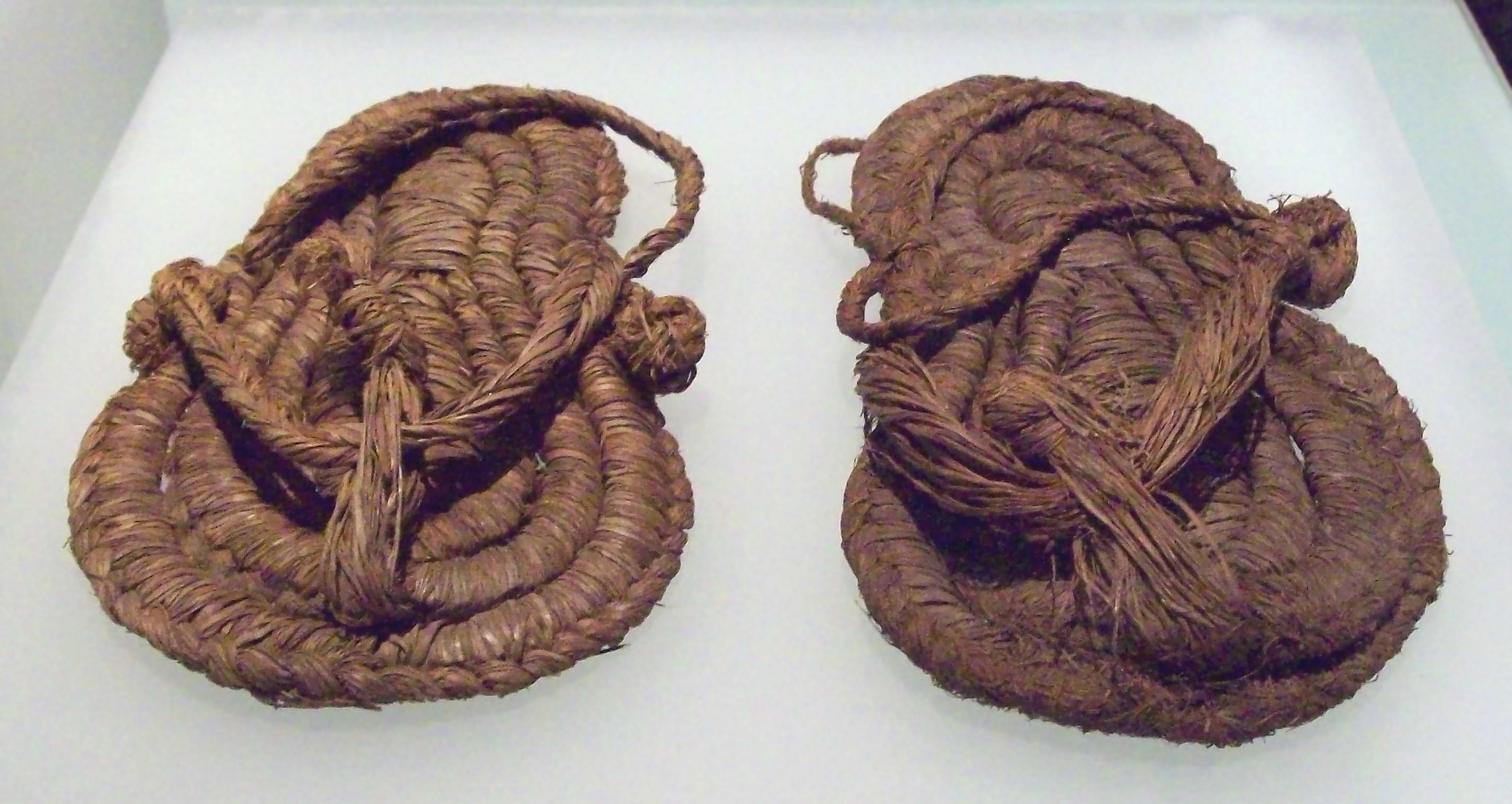 e8f824cdb00e Esparto sandals from the 6th or 5th millennium BC found in Spain. Roman  shoes  a man s