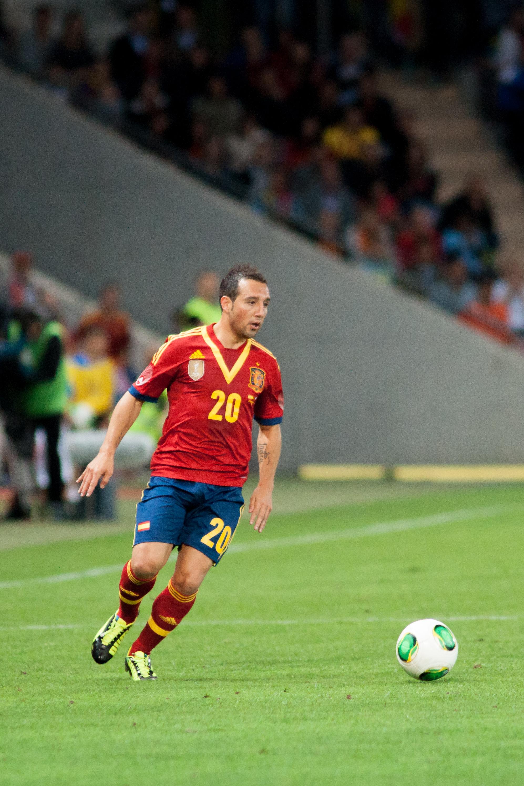 File Santiago Cazorla Spain vs Chile 10th September 2013