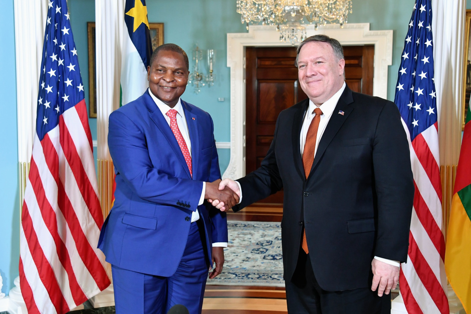 Secretary Pompeo meets with Central African Republic President Faustin-Archange Touadera (33709600898).jpg
