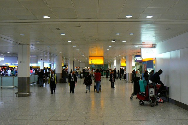 File Terminal 3 Arrivals Hall London Heathrow Airport Geograph Org Uk