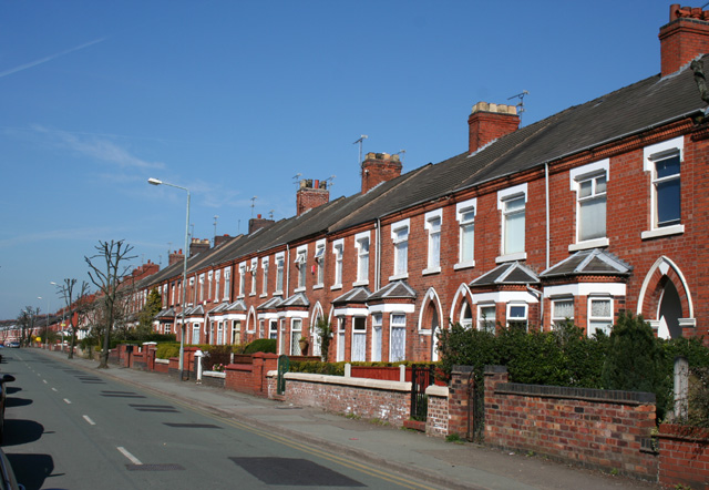 File:Terraced houses, Ruskin Road, Crewe - geograph.org.uk ...