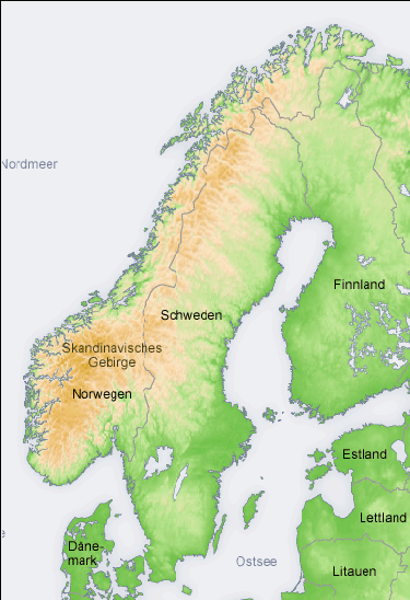 FileTopographic Map Of Scandinavia Depng Wikimedia Commons - Map of scandinavia