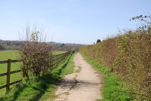 Track near Oak Hill Manor - geograph.org.uk - 1803474