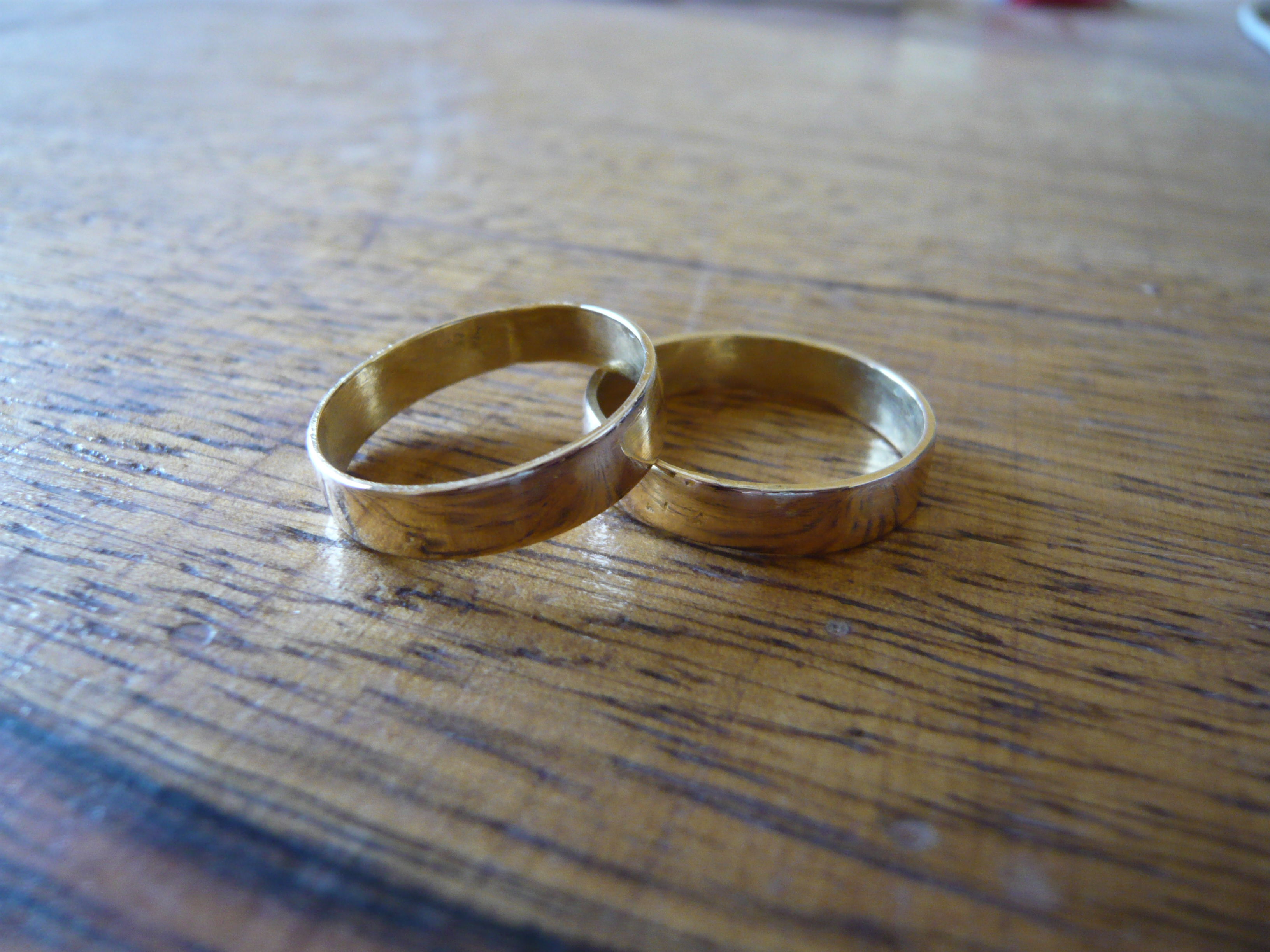 FileTwo golden wedding ringsjpg Wikimedia Commons