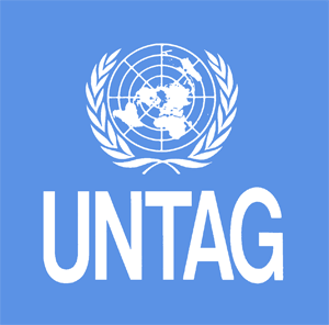 Image of the United Nations logo for UNTAG