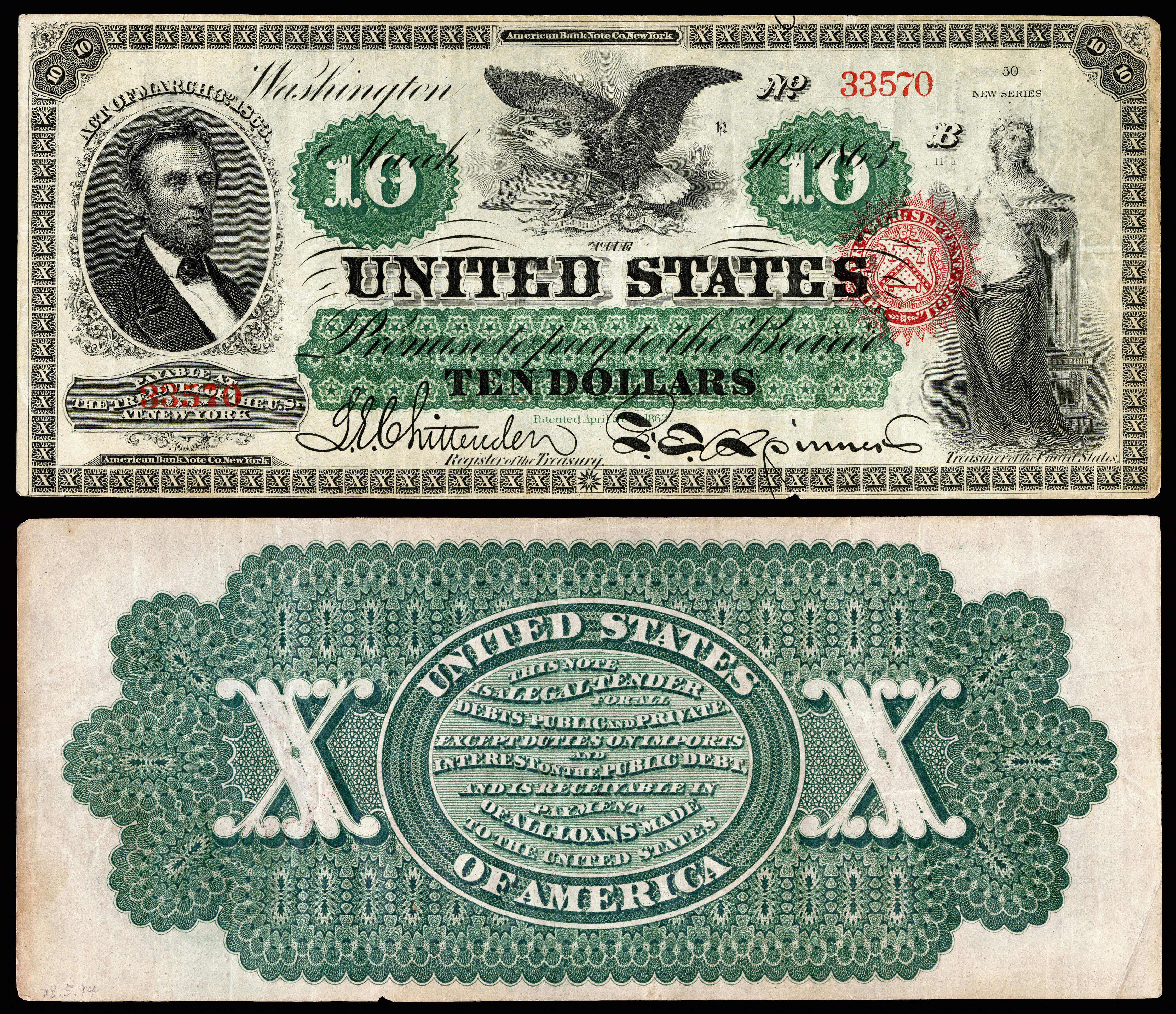 United States Ten Dollar Bill Wikipedia