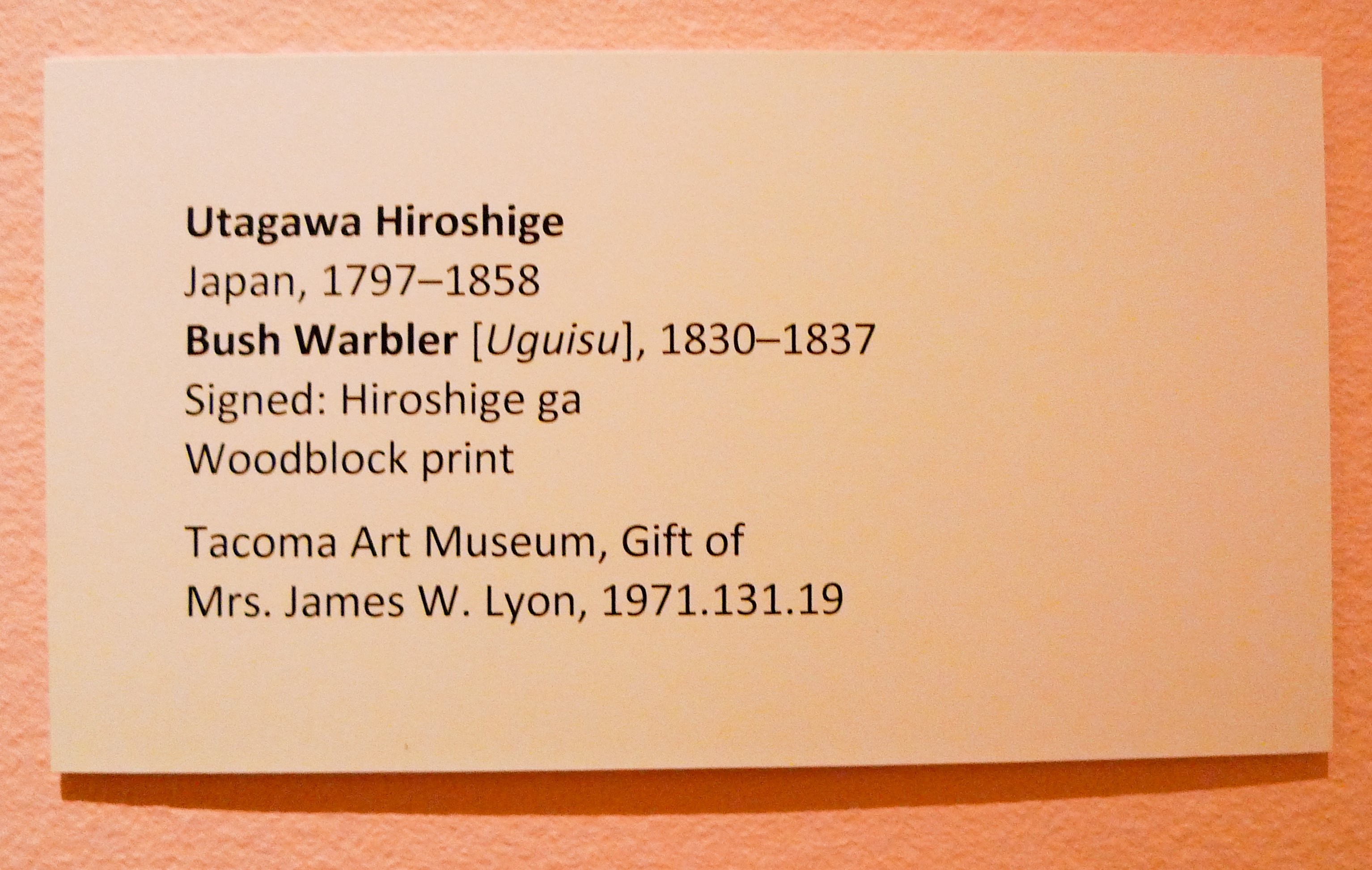 Examples of Artwork Labels