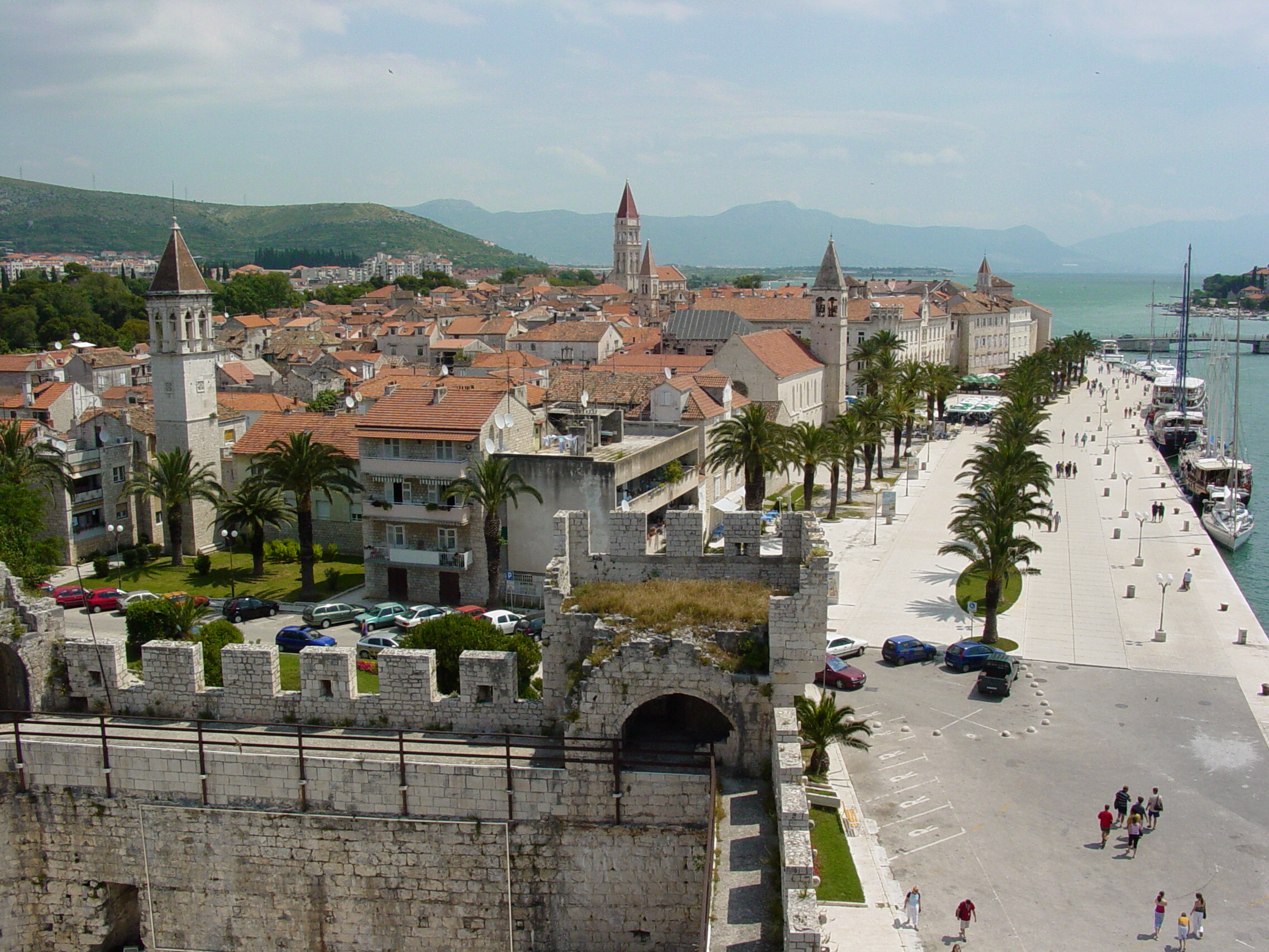 Trogir Croatia  city pictures gallery : Description View over Trogir Croatia