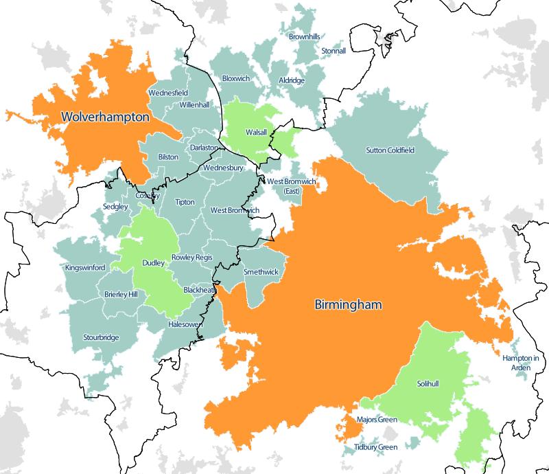 West Midlands conurbation  Wikipedia