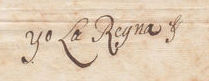 1715 signature of Isabel de Farnesio (Queen of Spain).jpg