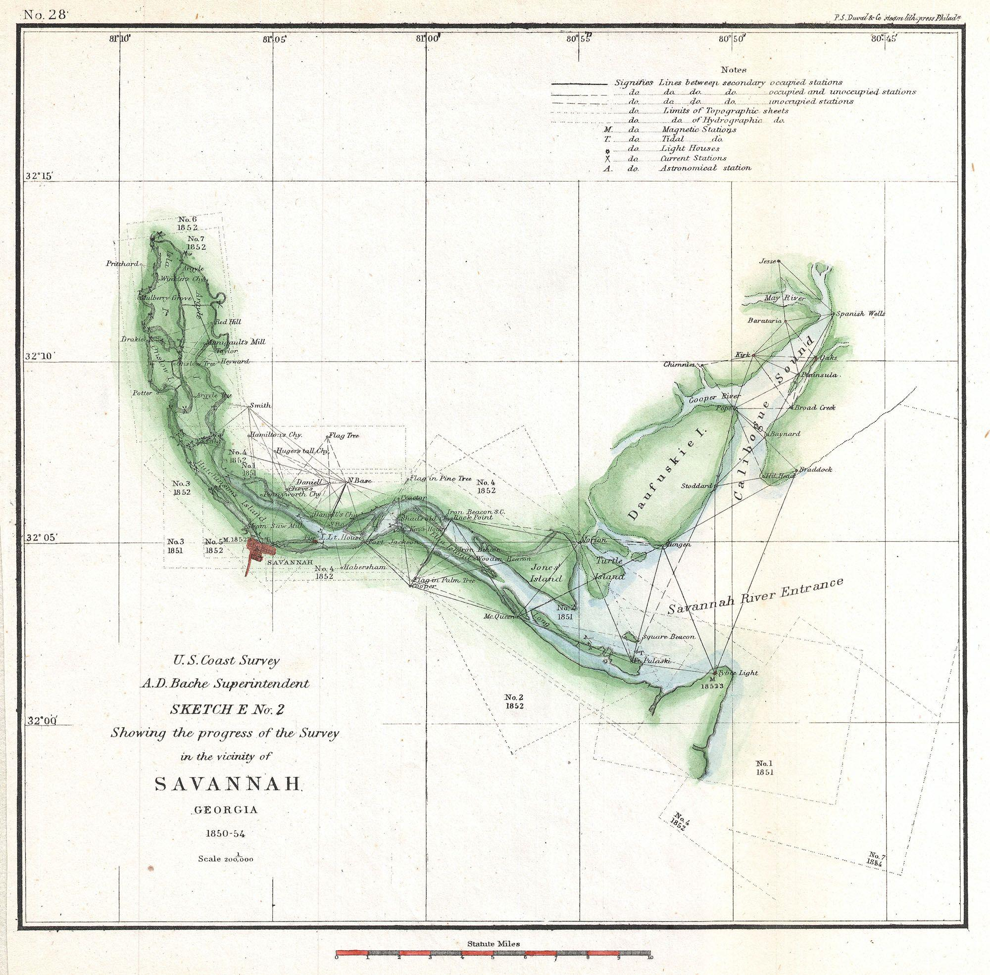File US Coast Survey Chart Or Map Of The Savannah River Ans - Savannah river us map