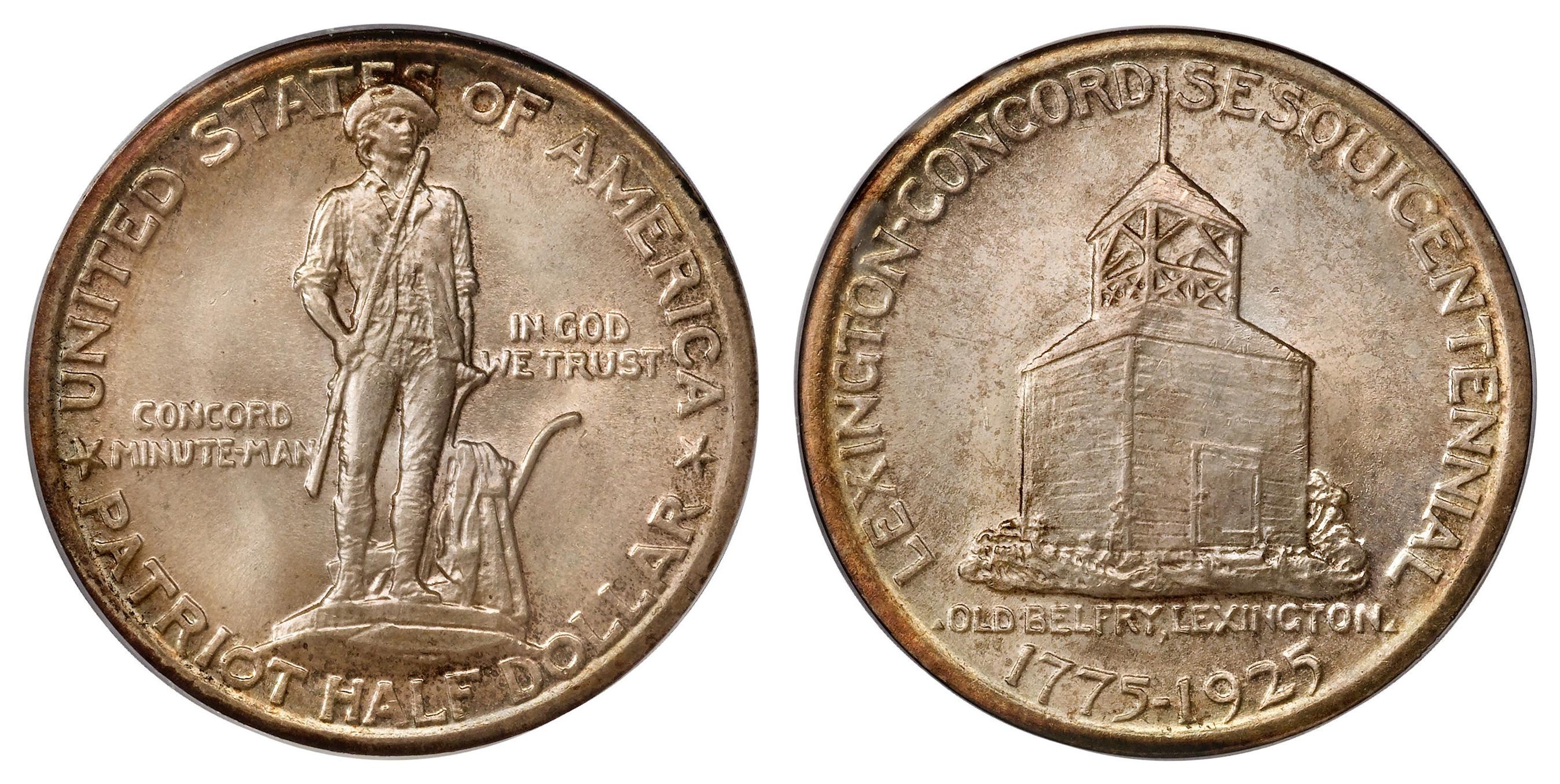 Lexington-Concord Sesquicentennial half dollar - Wikipedia