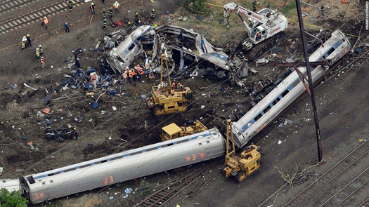 Engineer of Amtrak Train That Derailed in Philadelphia Says He Was Distracted by Radio Transmissions