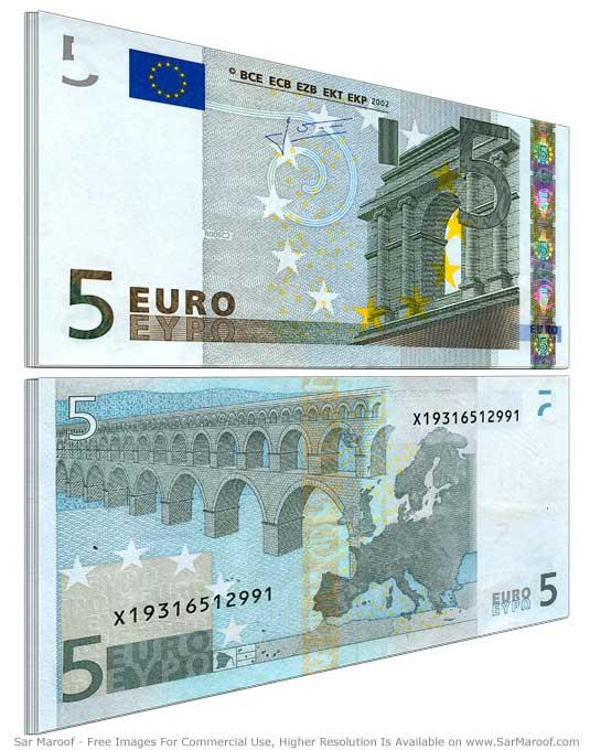 File5 Euro Bill Old