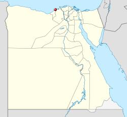 Localização de Alexandria (em vermelho).