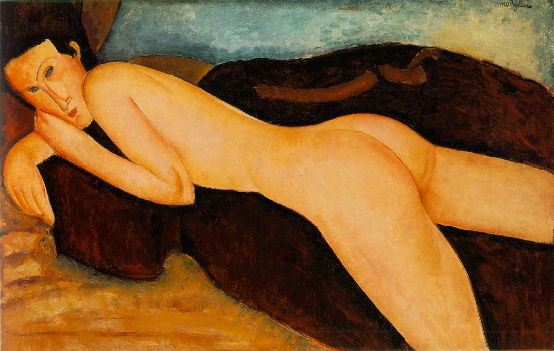 modiglianis reclining of nude protrait history