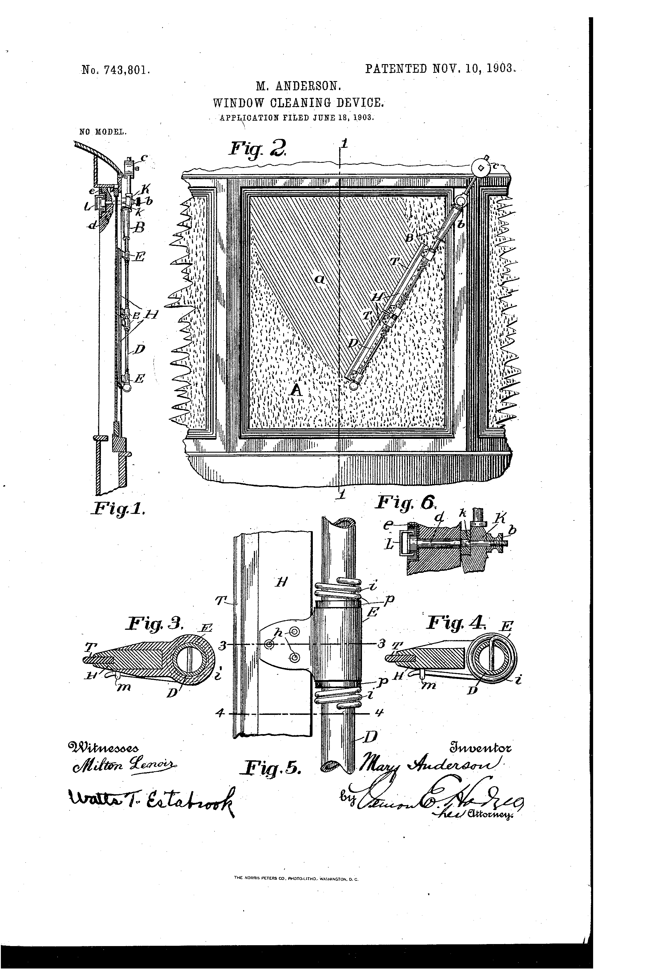 Windscreen Wiper Wikipedia Ford Rear Motor Wiring Diagram Andersons 1903 Window Cleaner Design