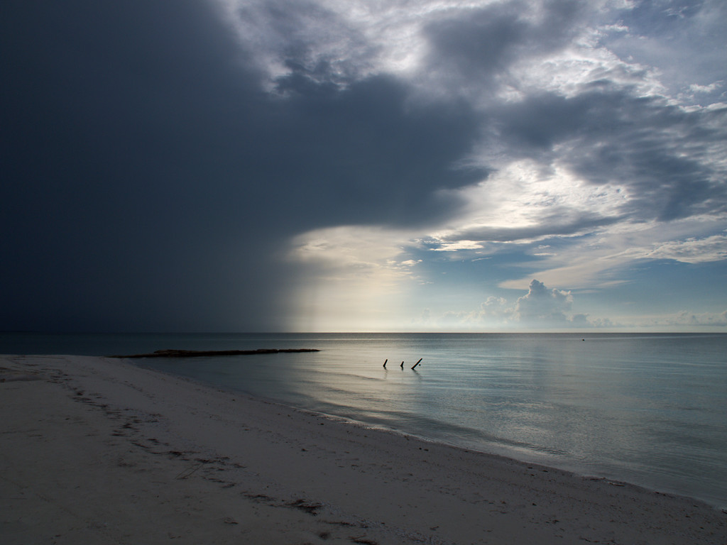 storm clouds over the water