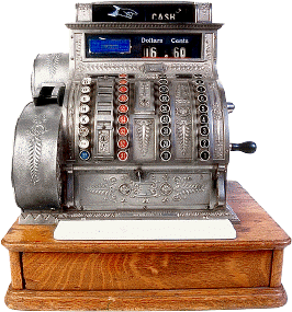 Antique three-column full-keyboard cash register Antique cash register.png