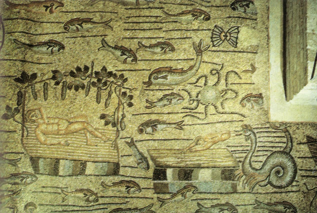 File aquileia storia di giona pavimento della basilica for 1 1 2 casa di storia